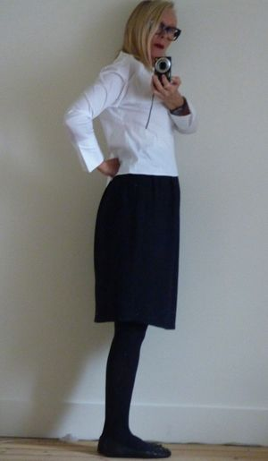 Jupe lanvin et blouse zara
