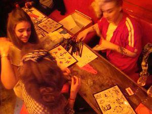 Balajo Hermès séance tatoo