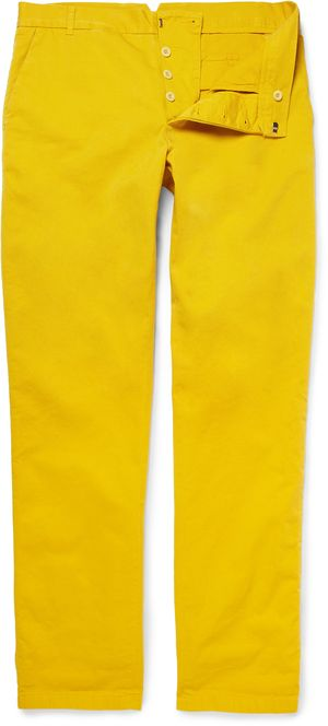 184025 Band of Outsiders yellow chinos