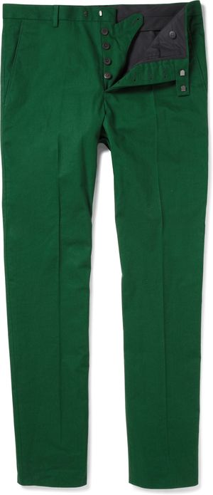 180751 Jil Sander green trousers