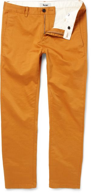 181175 Acne burnt orange coton chinos