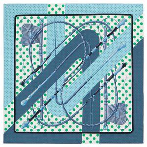 Soie hermès carré clic clac à pois 70 vintage
