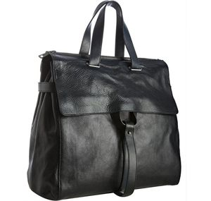 Yves-Saint-Laurent-dark-navy-pebbled-leather-tote-1