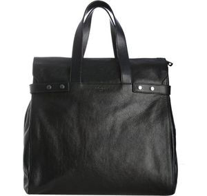 Yves-Saint-Laurent-dark-navy-pebbled-leather-tote-2-580x550