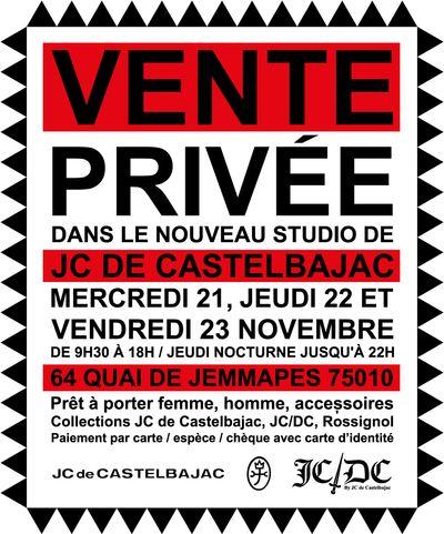 Vente privée JC de Castelbajac