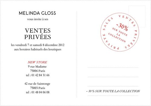 Ventes Privées Melinda Gloss Dec2012
