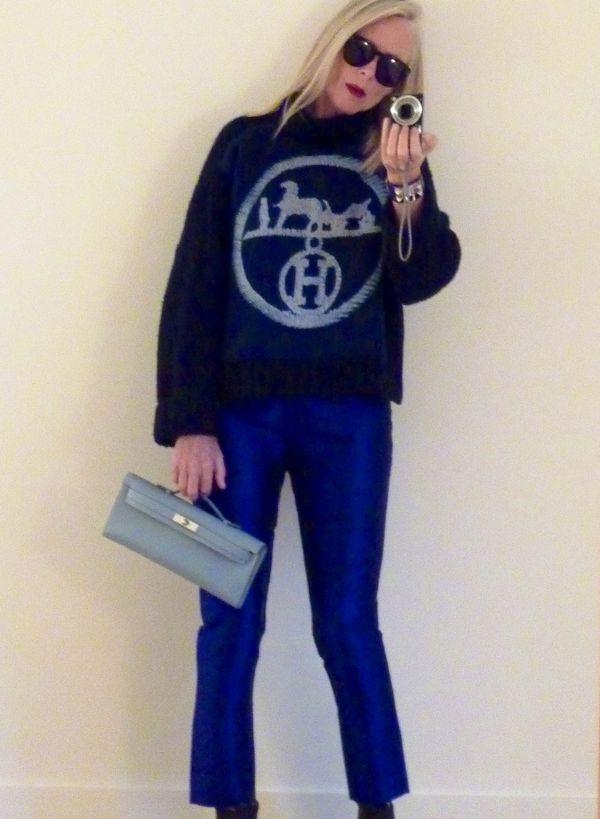 Cab carré indigo hermès suite