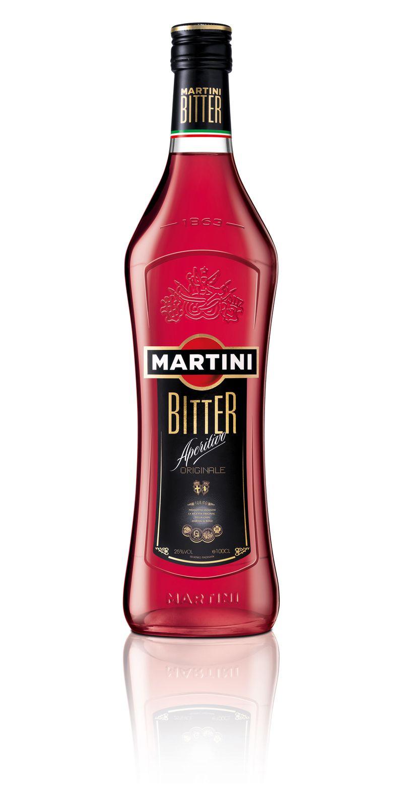 Martini Bitter Bottle Wh
