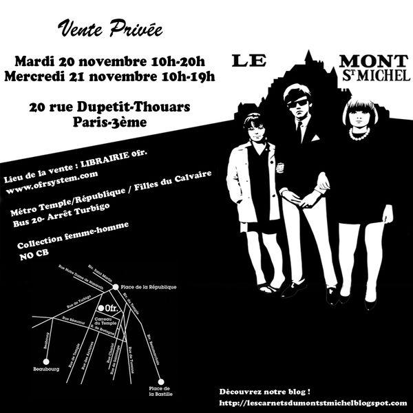 Flyer Vente Privée -- 20 & 21 novembre 2012 -- Le Mont Saint Michel