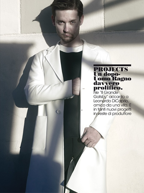 Tobey maguire l'uomo vogue prada men spring summer 2013