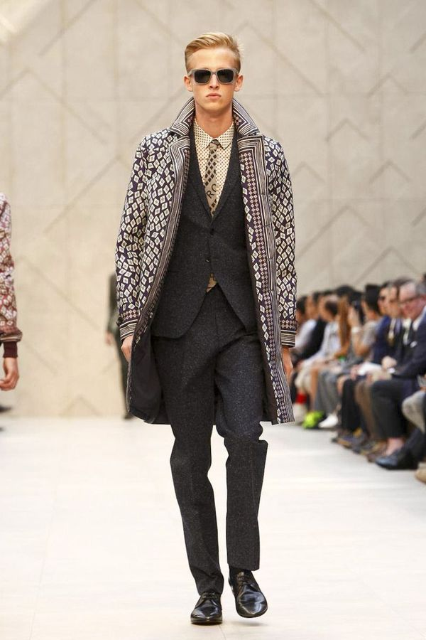 Burberry prorsum men spring summer 2013 nylon trench