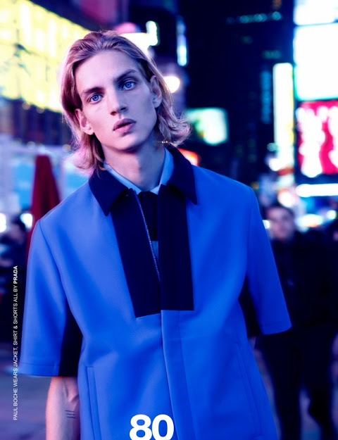 Prada men spring summer 2013 blouson bicolore
