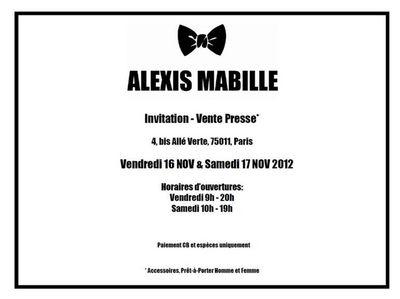 Vente privée Alexis Mabille