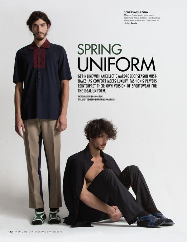 Prada spring summer 2013 men uniform