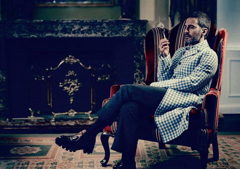 Marc Jacobs et le manteau prada en vichy
