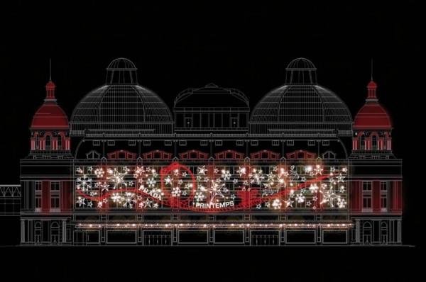 Printemps-Noel-Joyeuse-Obsession-By-Prada-Façade-600x398