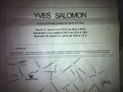 Vente privée yves salomon